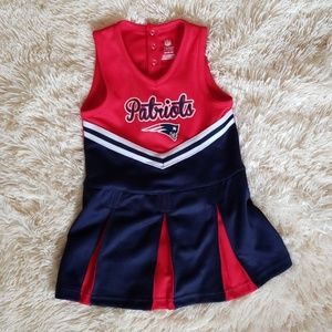 NWOT Girl's Patriots Cheerleader Outfit